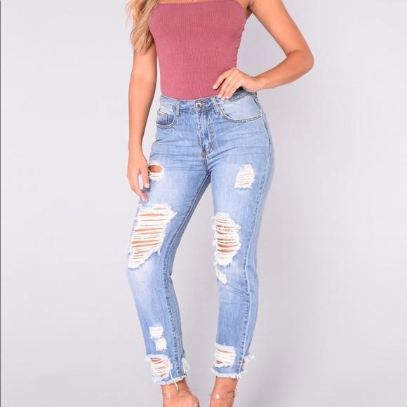Fashionnova Boyfriend Jeans Size 3 NEW